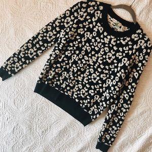 Rebecca Taylor Leopard Print Sweater- Small